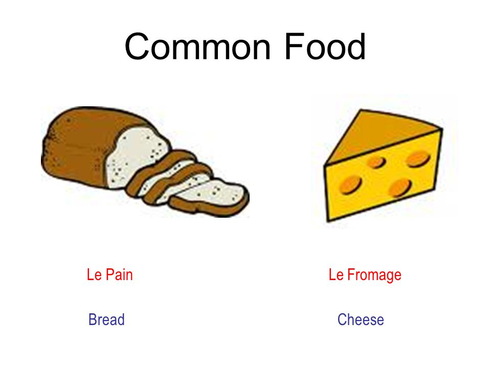 Common Food Le Pain Le Fromage Bread Cheese