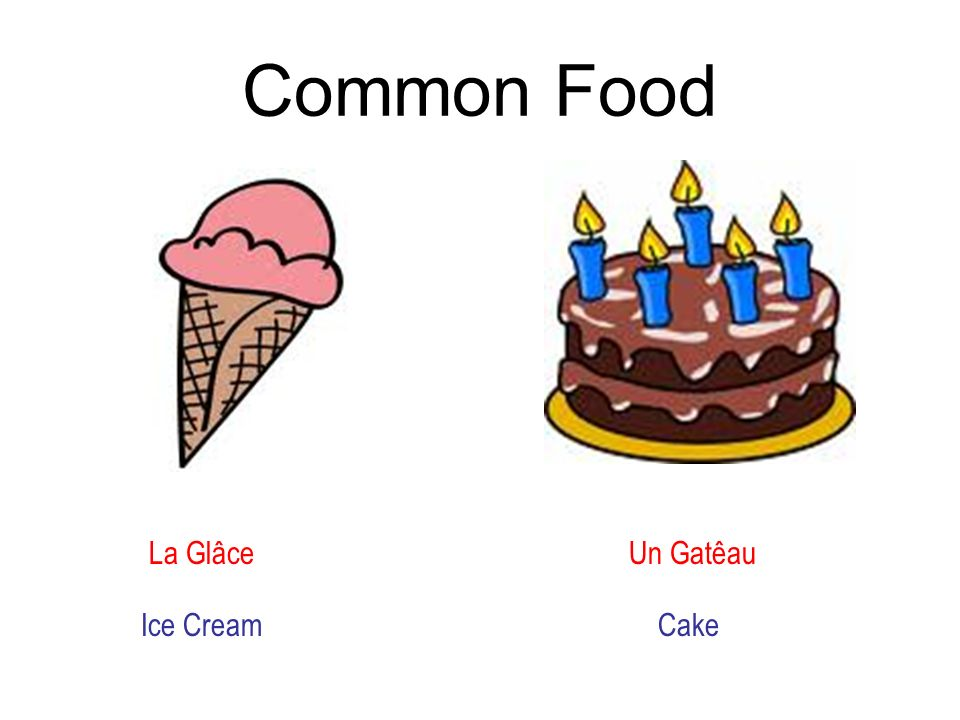 Common Food La Glâce Un Gatêau Ice CreamCake