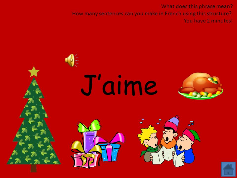 Je suis What does this phrase mean? How many sentences can you make in French using this structure? You have 2 minutes!