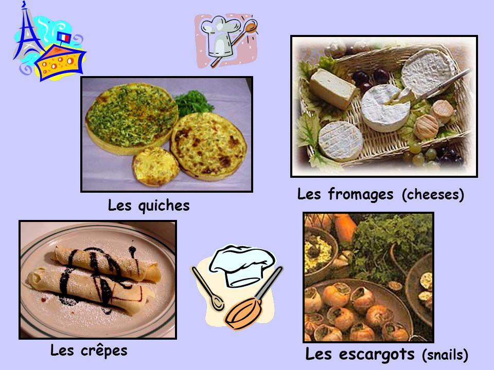 La cuisine française (French cuisine) Les baguettes Les éclairs and others pastries Les croissantsLes pains (breads)