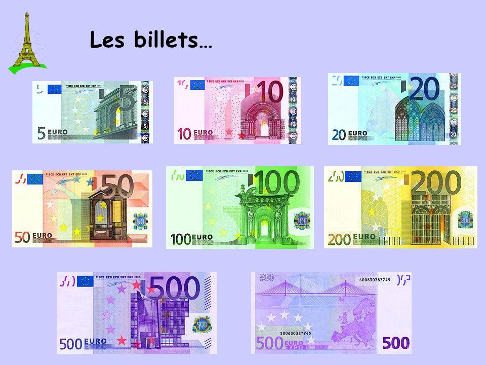 Les pièces… Les cents… Les euros… La monnaie: L EURO 1,00 = about $1.40