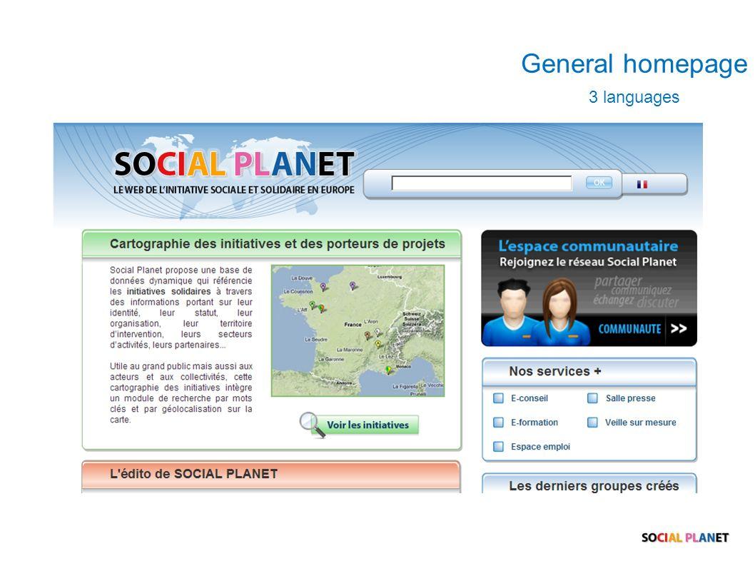 General homepage 3 languages