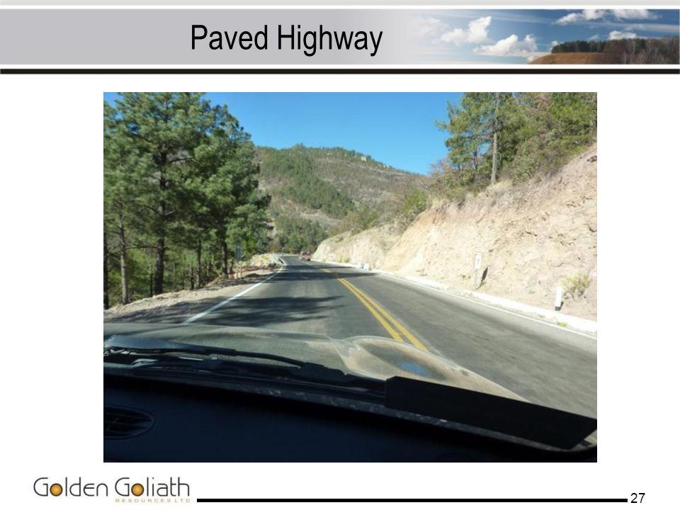 Paved Highway 27
