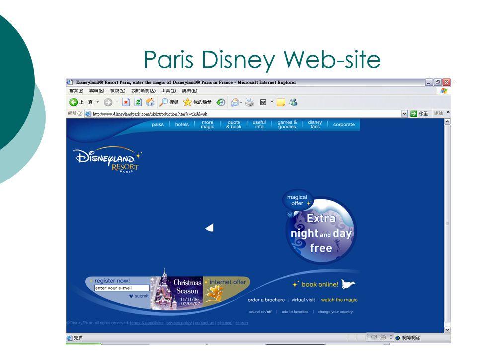 Paris Disney Web-site