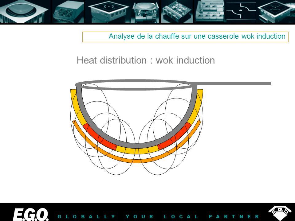 GLOBALLY YOUR LOCAL PARTNER Analyse de la chauffe sur une casserole wok induction Heat distribution : wok induction