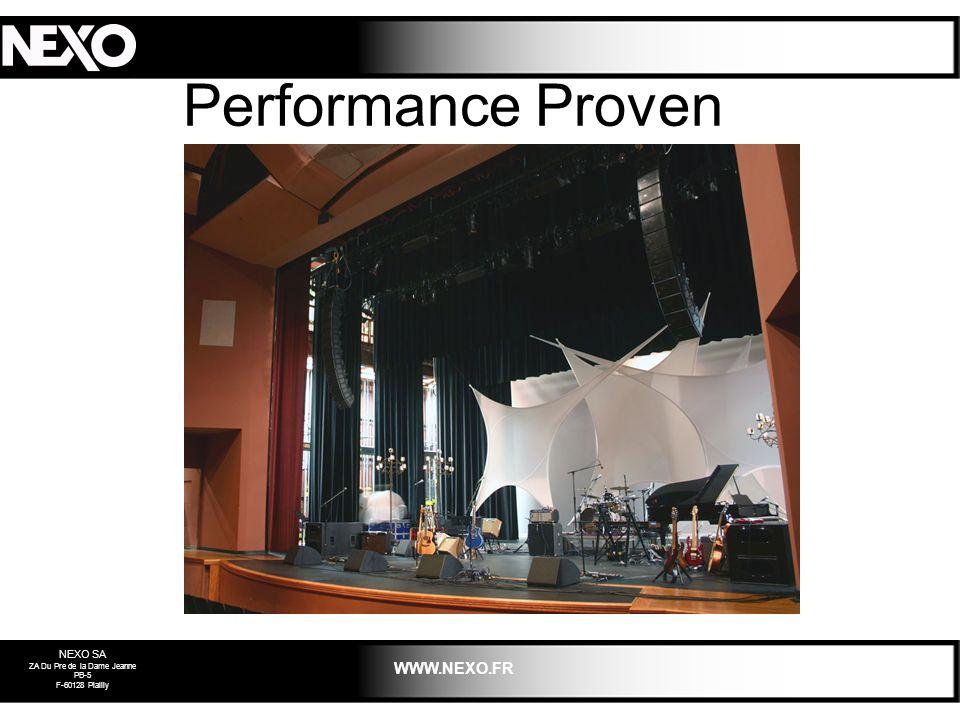 NEXO SA ZA Du Pre de la Dame Jeanne PB-5 F-60128 Plailly WWW.NEXO.FR Performance Proven