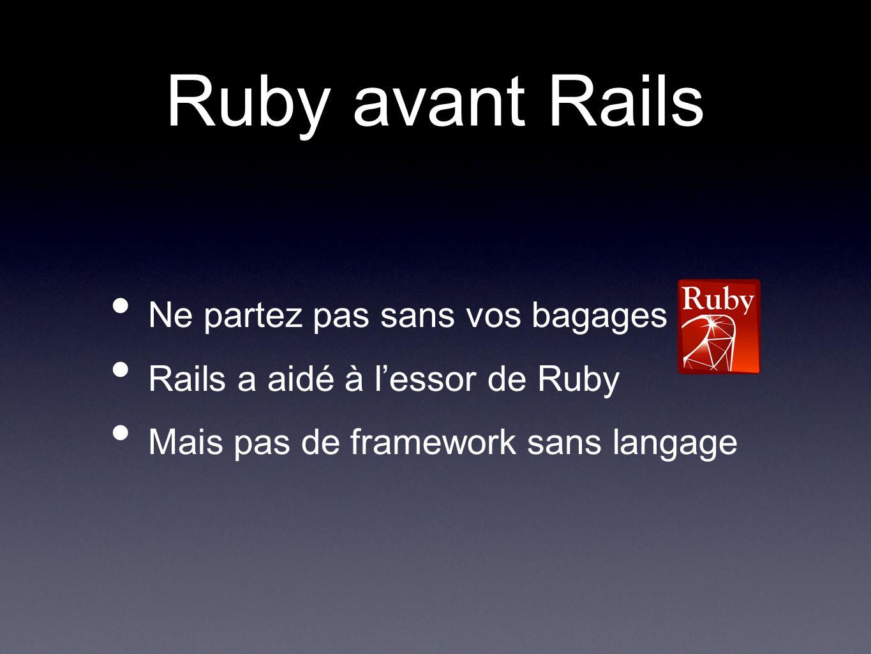 Ruby avant Rails Ne partez pas sans vos bagages .