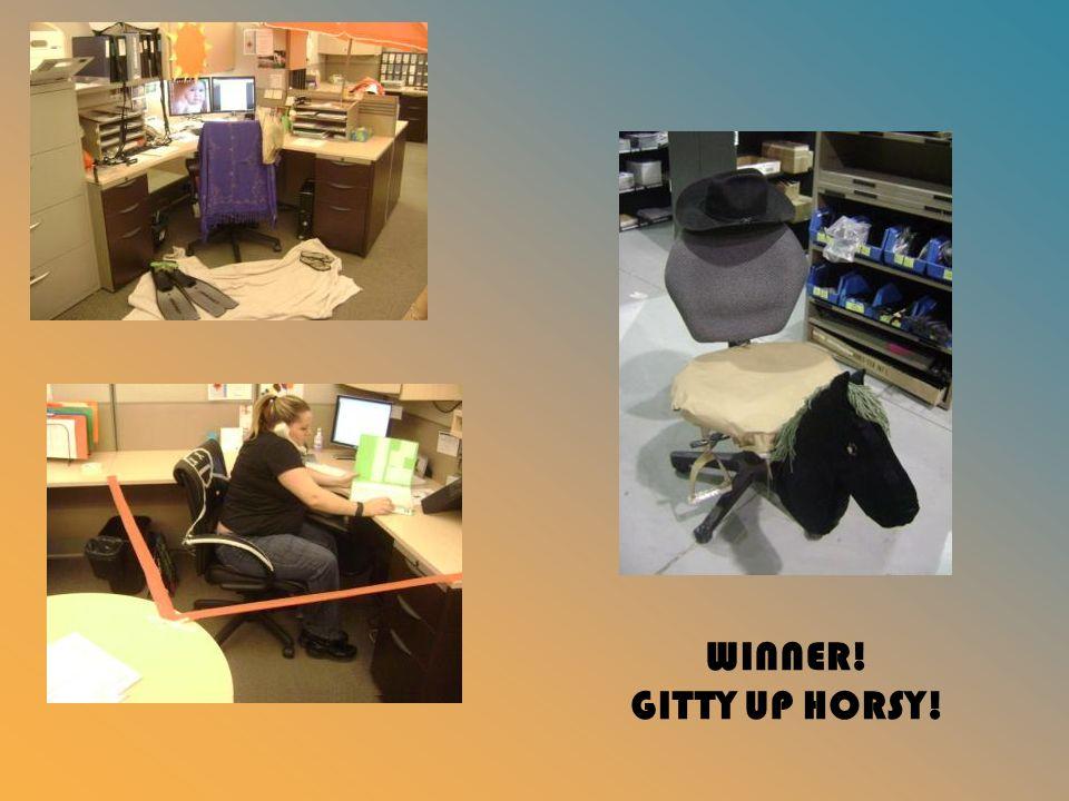 WINNER! GITTY UP HORSY!