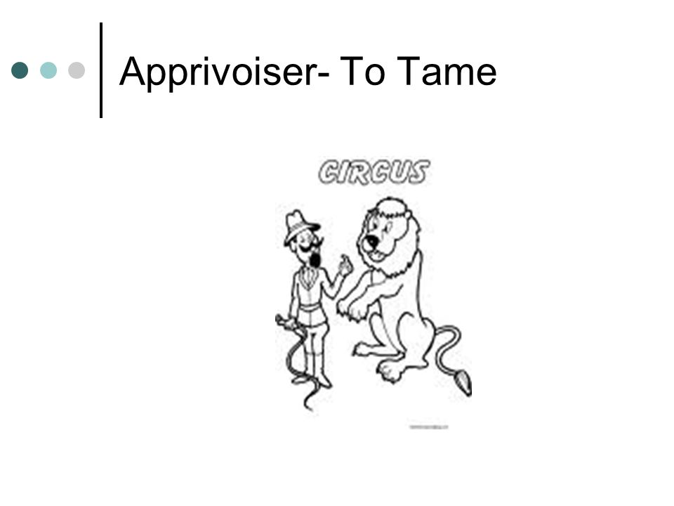 Apprivoiser- To Tame