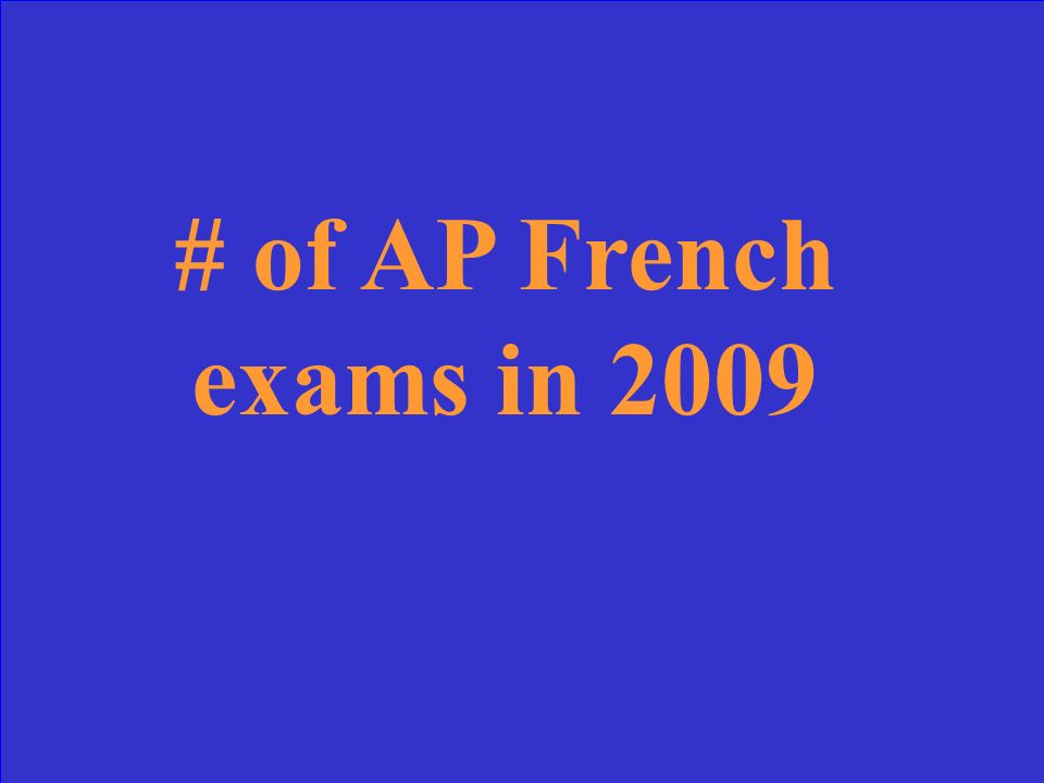 # of AP French exams in 2009