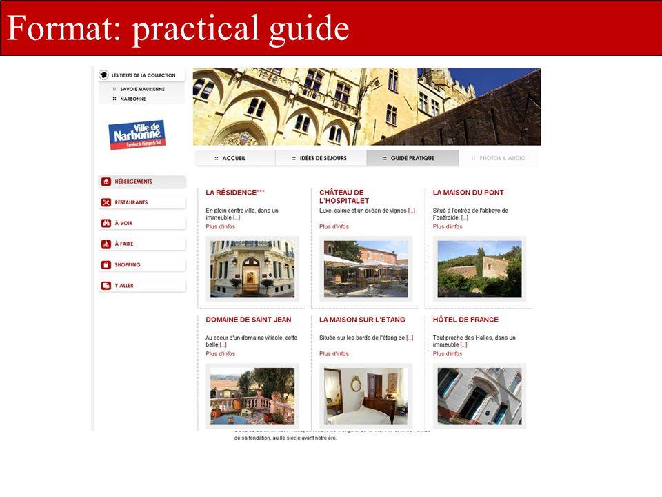 une offre dédiée et déclinée à vos besoins Format: practical guide