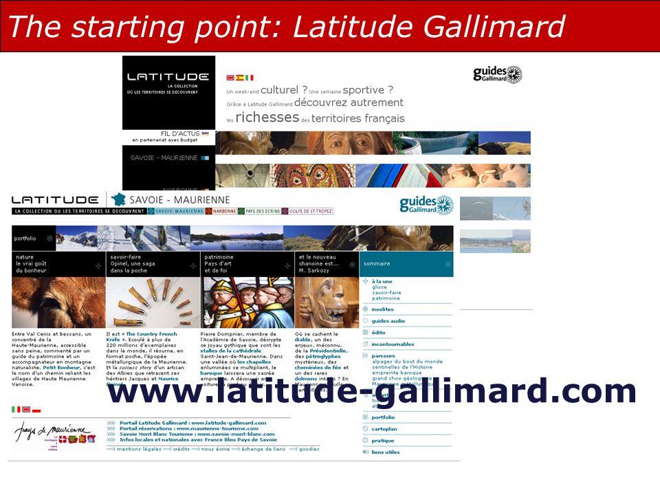 The starting point: Latitude Gallimard www.latitude-gallimard.com