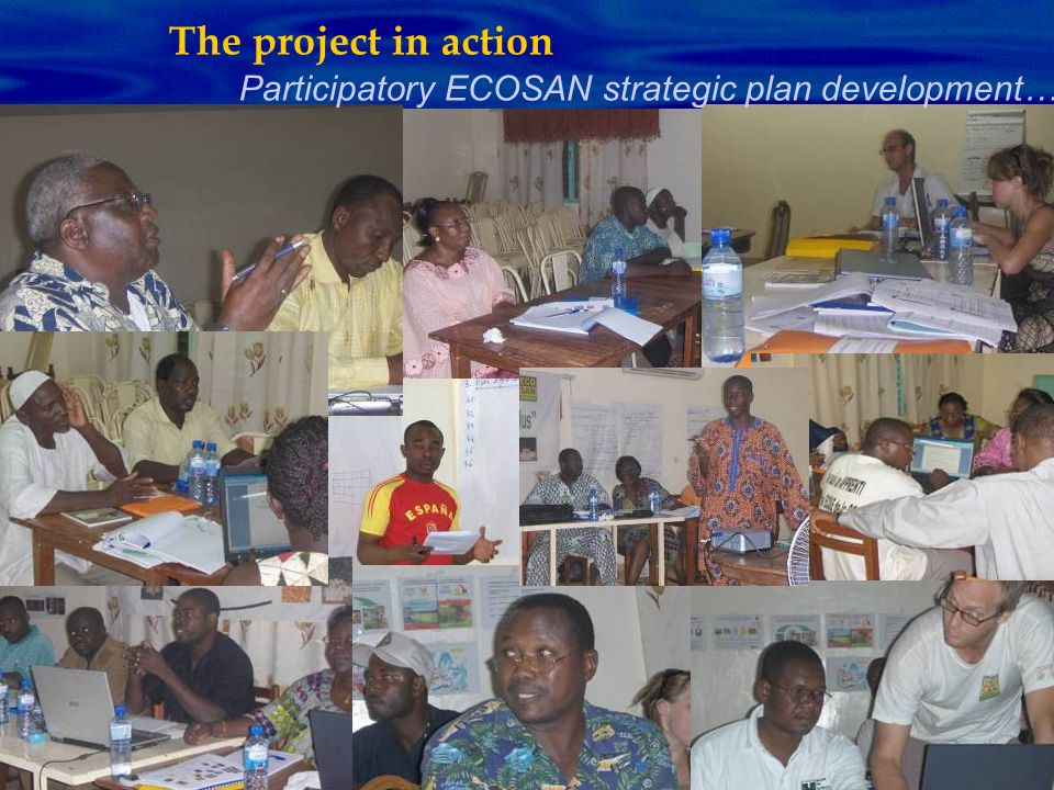 Participatory ECOSAN strategic plan development… The project in action