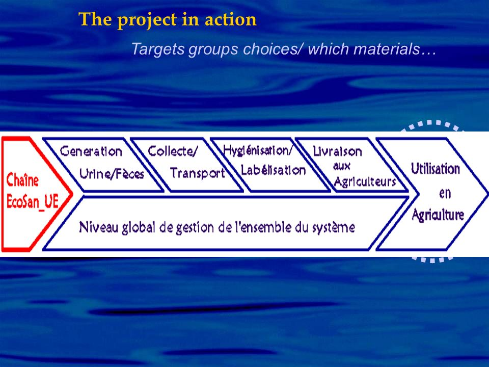 Targets groups choices/ which materials… The project in action