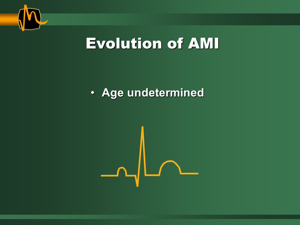 Evolution of AMI Age undeterminedAge undetermined