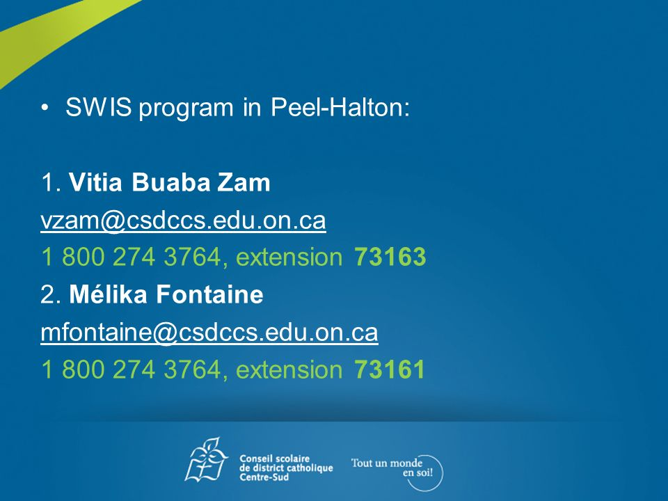 SWIS program in Peel-Halton: 1.