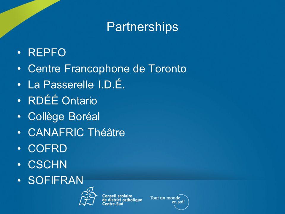 Partnerships REPFO Centre Francophone de Toronto La Passerelle I.D.É.