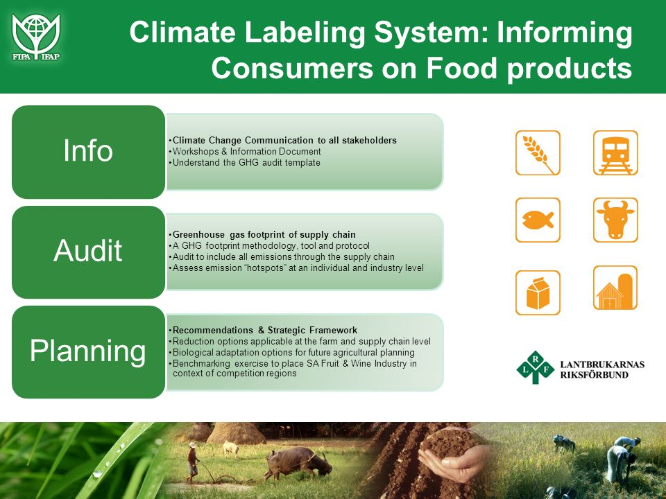 Climate Labeling System: Informing Consumers on Food products Climate Change Communication to all stakeholders Workshops & Information Document Unders
