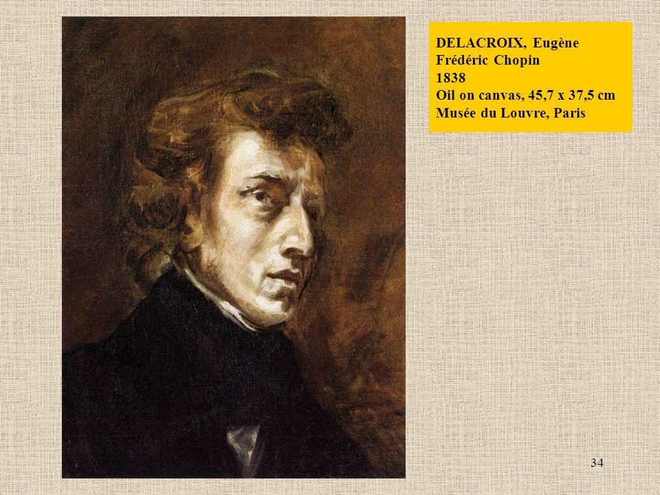 34 DELACROIX, Eugène Frédéric Chopin 1838 Oil on canvas, 45,7 x 37,5 cm Musée du Louvre, Paris