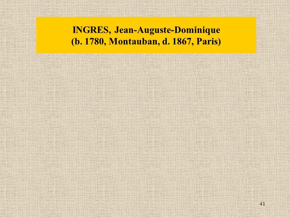 41 INGRES, Jean-Auguste-Dominique (b. 1780, Montauban, d. 1867, Paris)