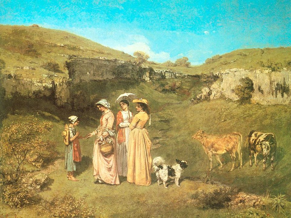 66 Gustave Courbet The Young Ladies of the Village 1851-52 The Metropolitan Museum of Art, NY.