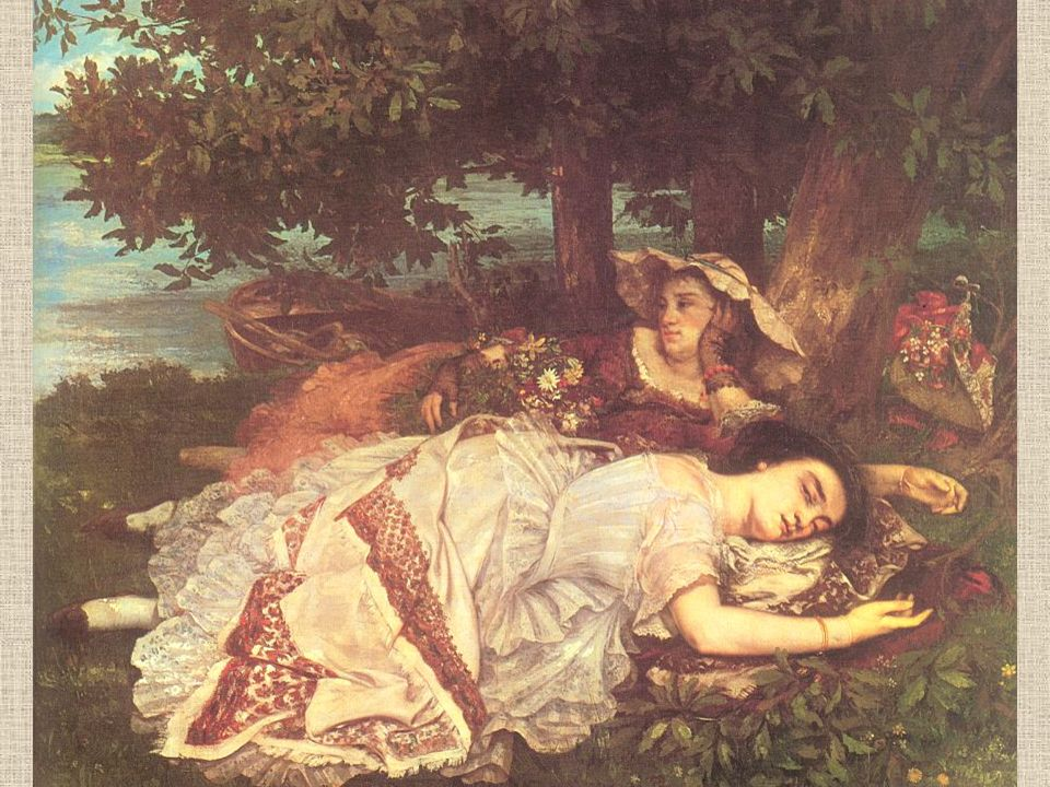 68 Gustave Courbet The Young Ladies on the Banks of the Seine (Summer) Oil on canvas Musée du Petit Palais, Paris.