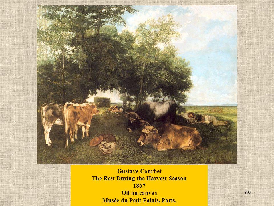 69 Gustave Courbet The Rest During the Harvest Season 1867 Oil on canvas Musée du Petit Palais, Paris.