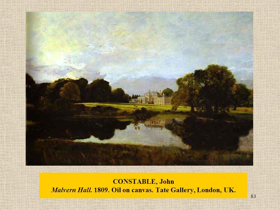 83 CONSTABLE, John Malvern Hall. 1809. Oil on canvas. Tate Gallery, London, UK.