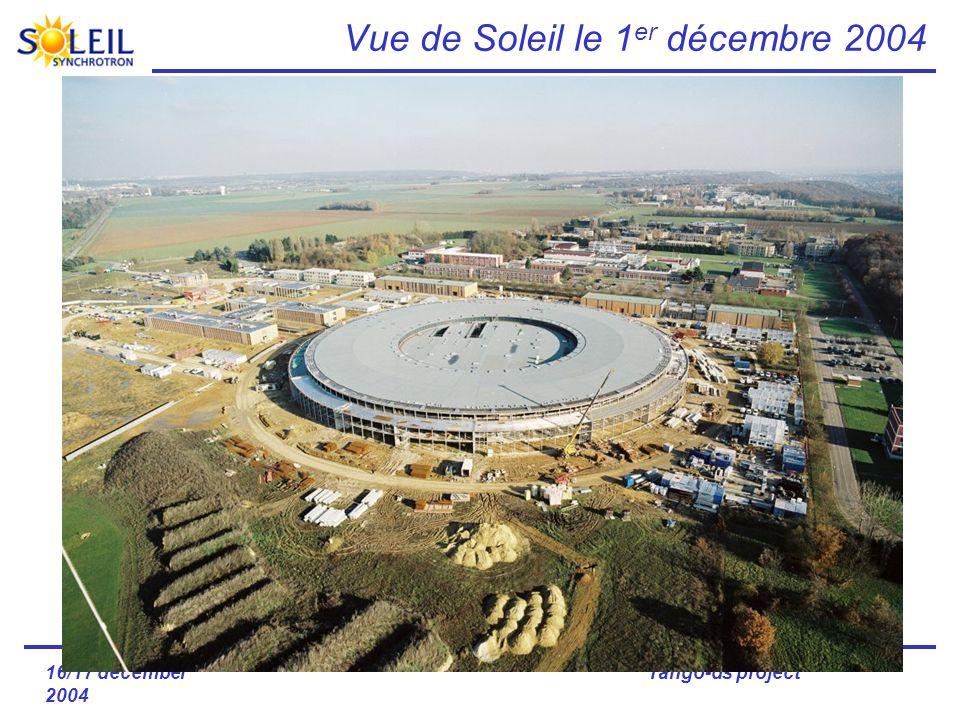 16/17 december 2004 Tango-ds project Vue de Soleil le 1 er décembre 2004