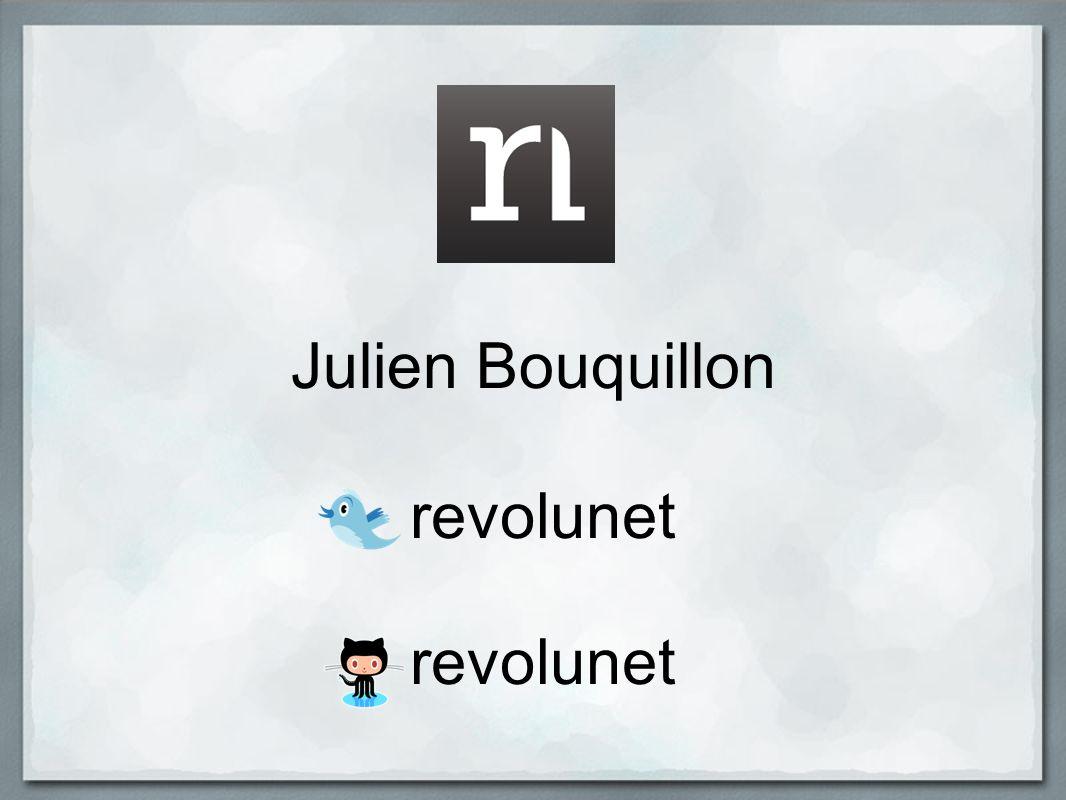 Julien Bouquillon revolunet