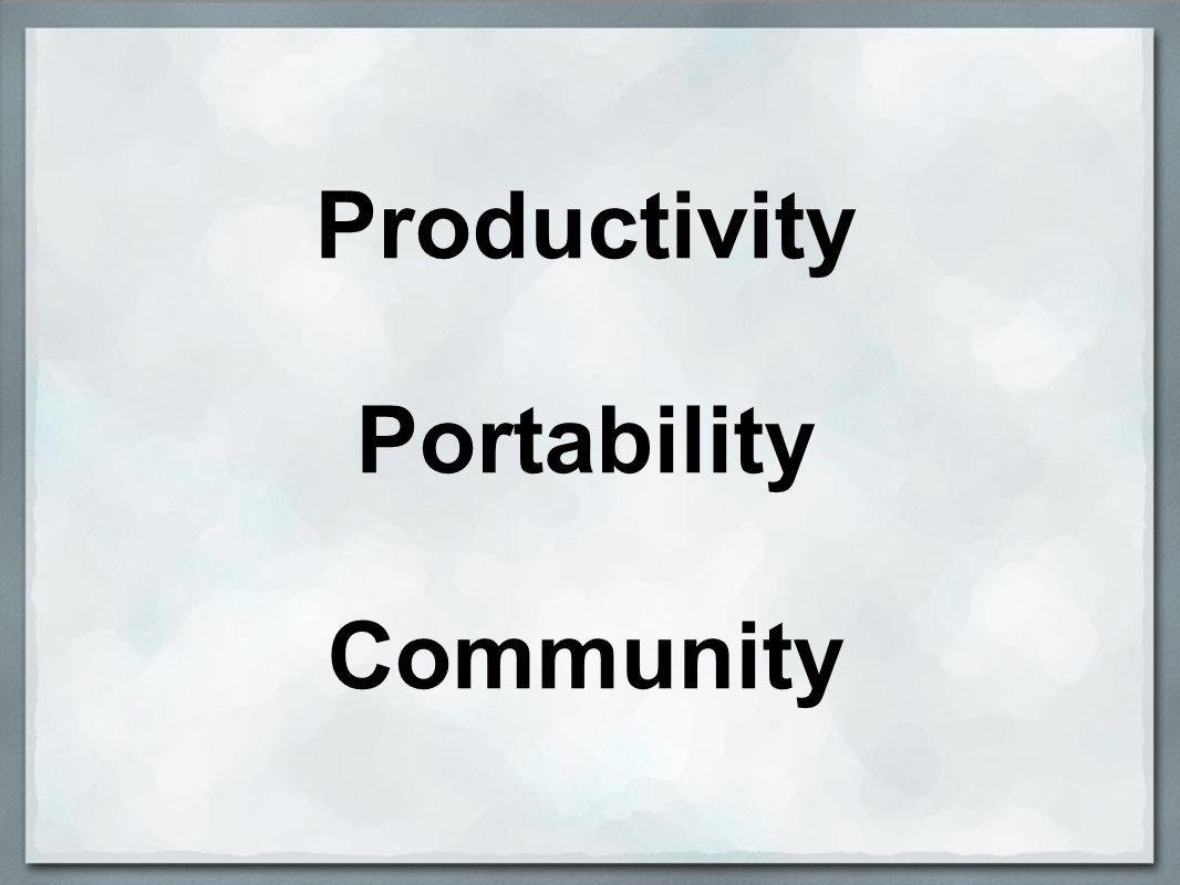Productivity Portability Community
