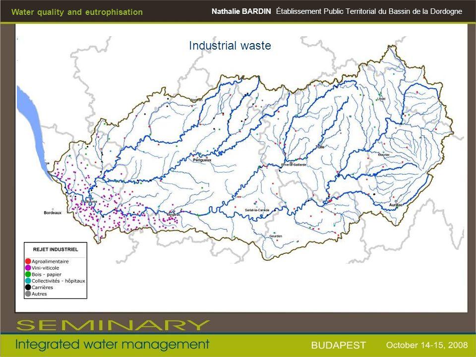 Nathalie BARDINÉtablissement Public Territorial du Bassin de la Dordogne Water quality and eutrophisation Industrial waste