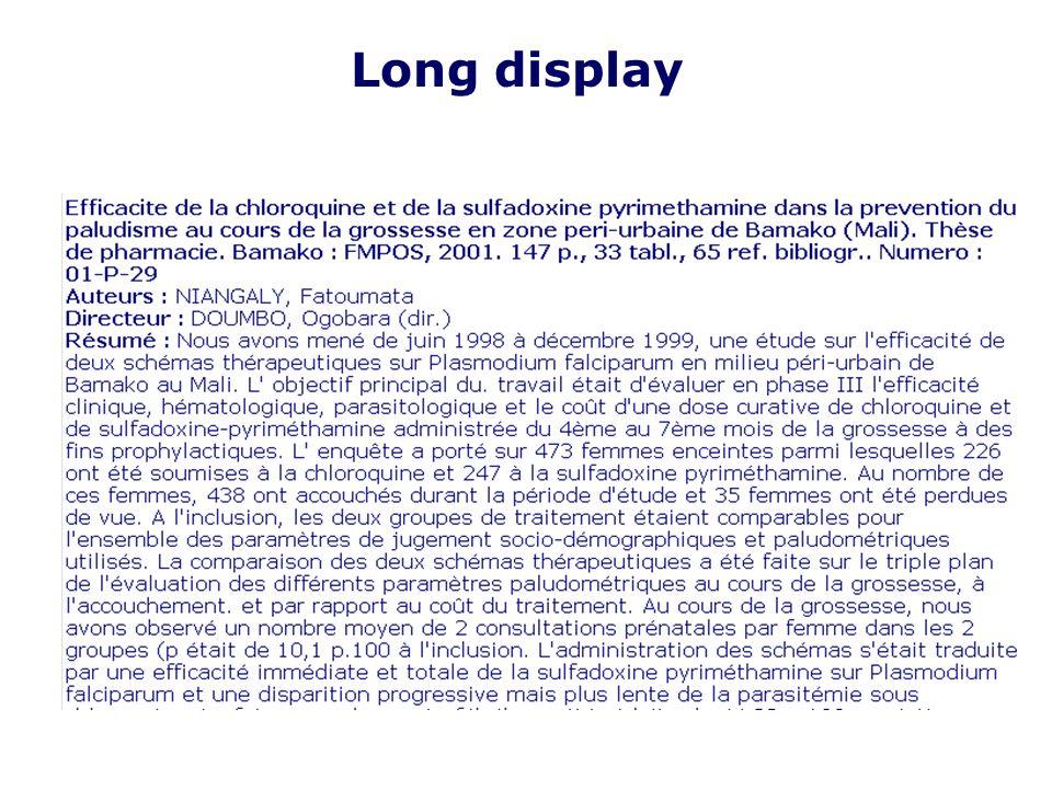 Long display