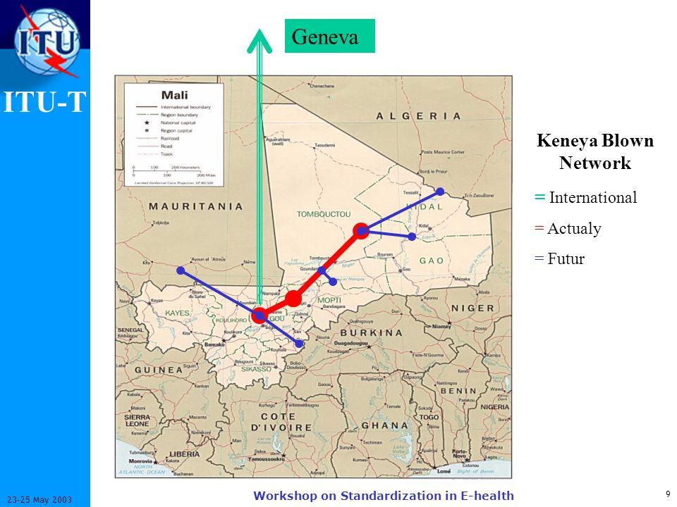 ITU-T 9 23-25 May 2003 Workshop on Standardization in E-health Geneva Keneya Blown Network = International = Actualy = Futur