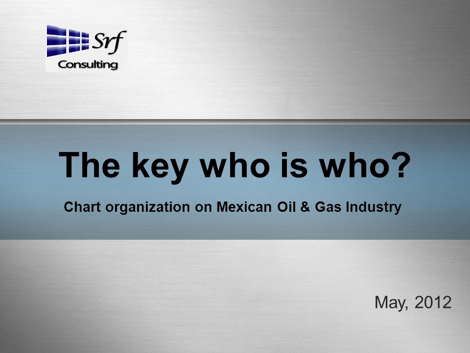 The key who is who? Chart organization on Mexican Oil & Gas Industry May, 2012