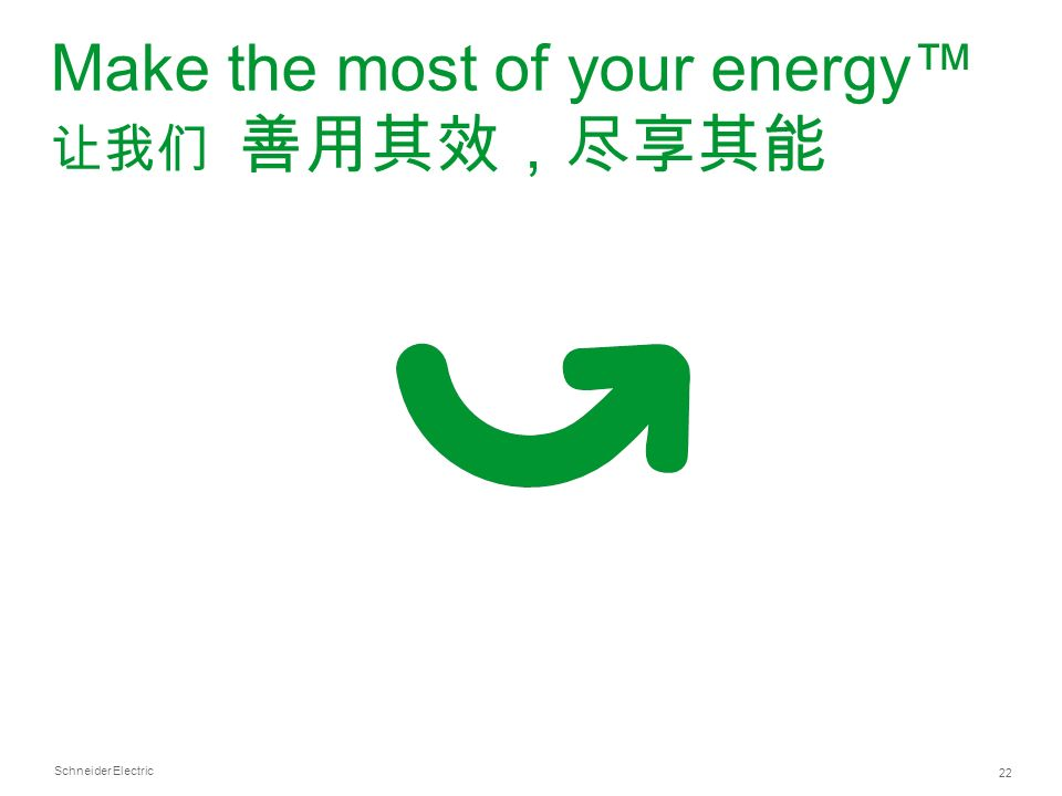 Schneider Electric 22 Make the most of your energy