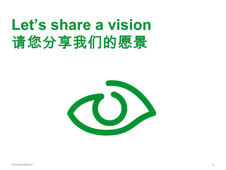 Schneider Electric 9 Lets share a vision