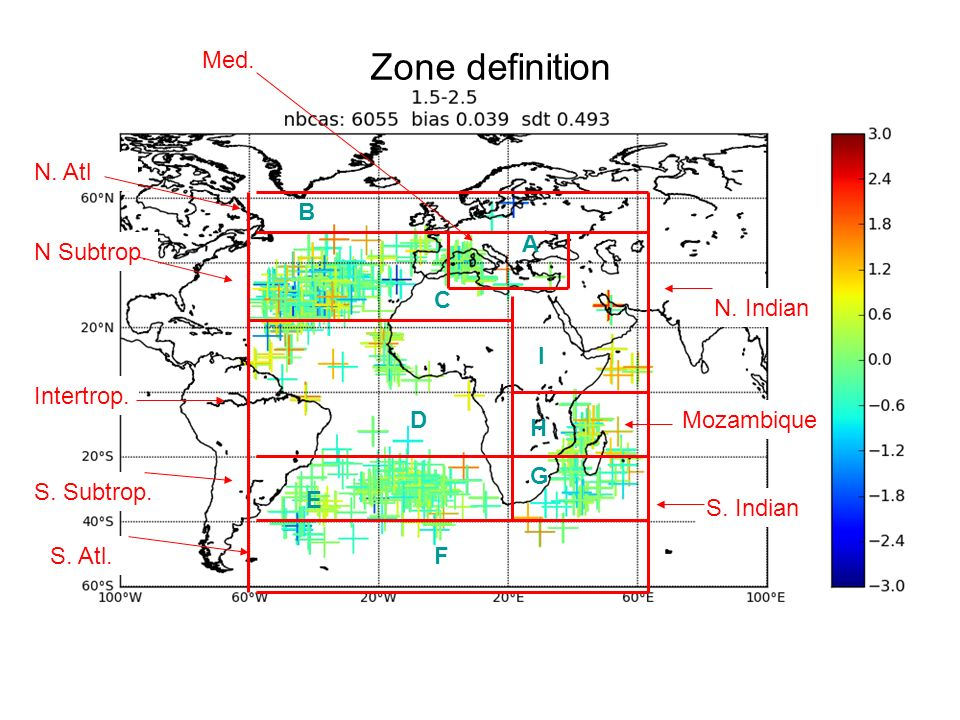 14 December 2012UBO Master course Zone definition B C D A E F G H I N. Atl N Subtrop. Intertrop. S. Subtrop. S. Atl. N. Indian Mozambique S. Indian Me