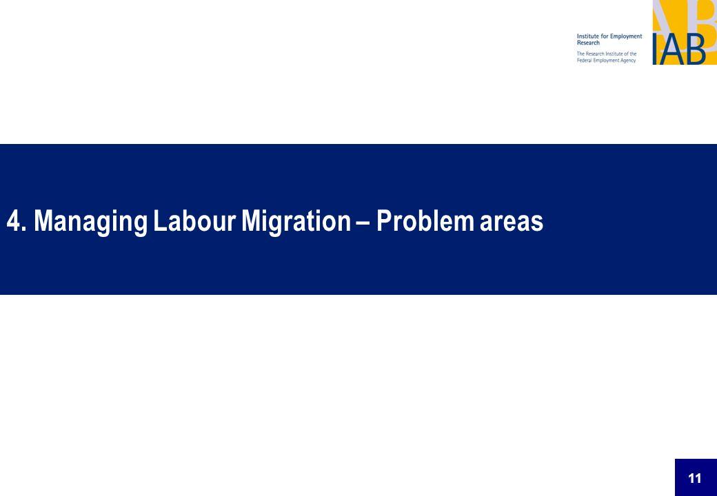 11 4. Managing Labour Migration – Problem areas