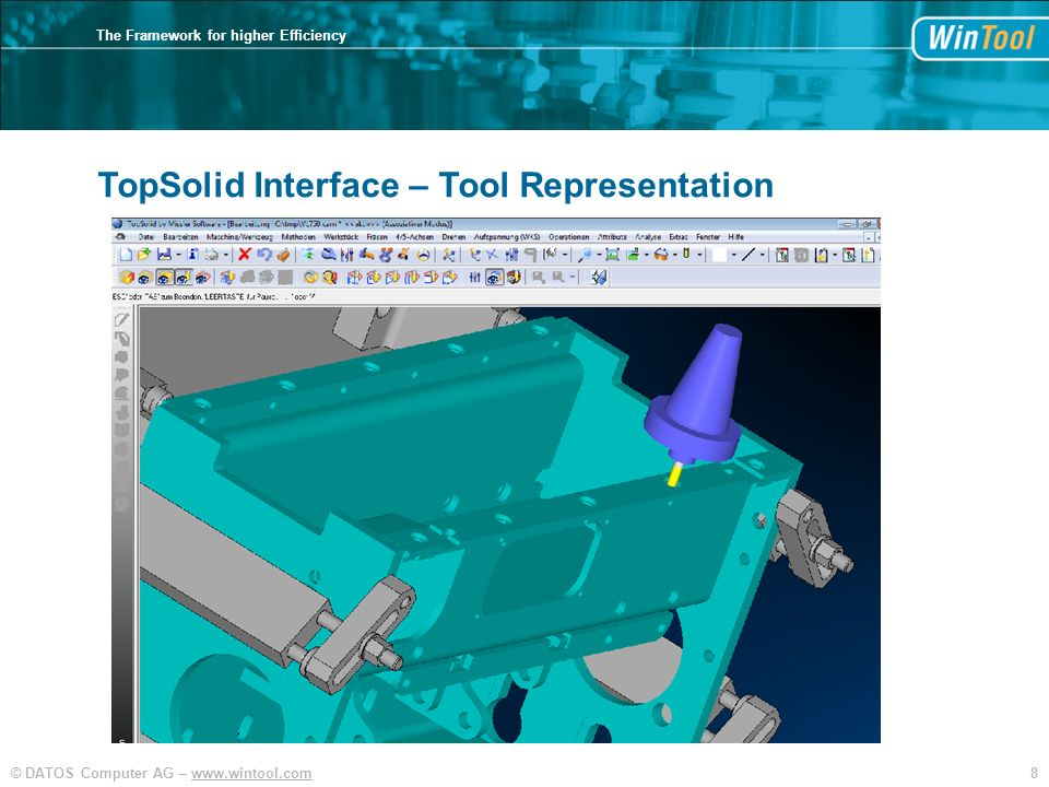 9© DATOS Computer AG – www.wintool.com The Framework for higher Efficiency TopSolid Interface – Tool List Export