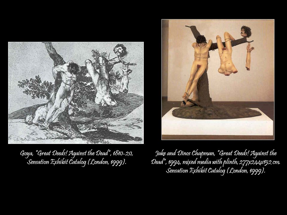 Gilles Barbier, Paysage mental, 2003 Edouard Manet, Le suicide, 1881