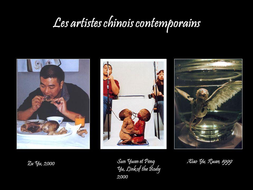 Les artistes chinois contemporains Sun Yuan et Peng Yu, Link of the Body 2000 Xiao Yu, Ruan, 1999 Zu Yu, 2000