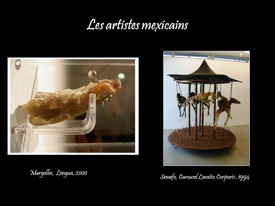 Les artistes mexicains Semefo, Carousel Lavatio Corporis, 1994 Margolles, Lengua, 2000