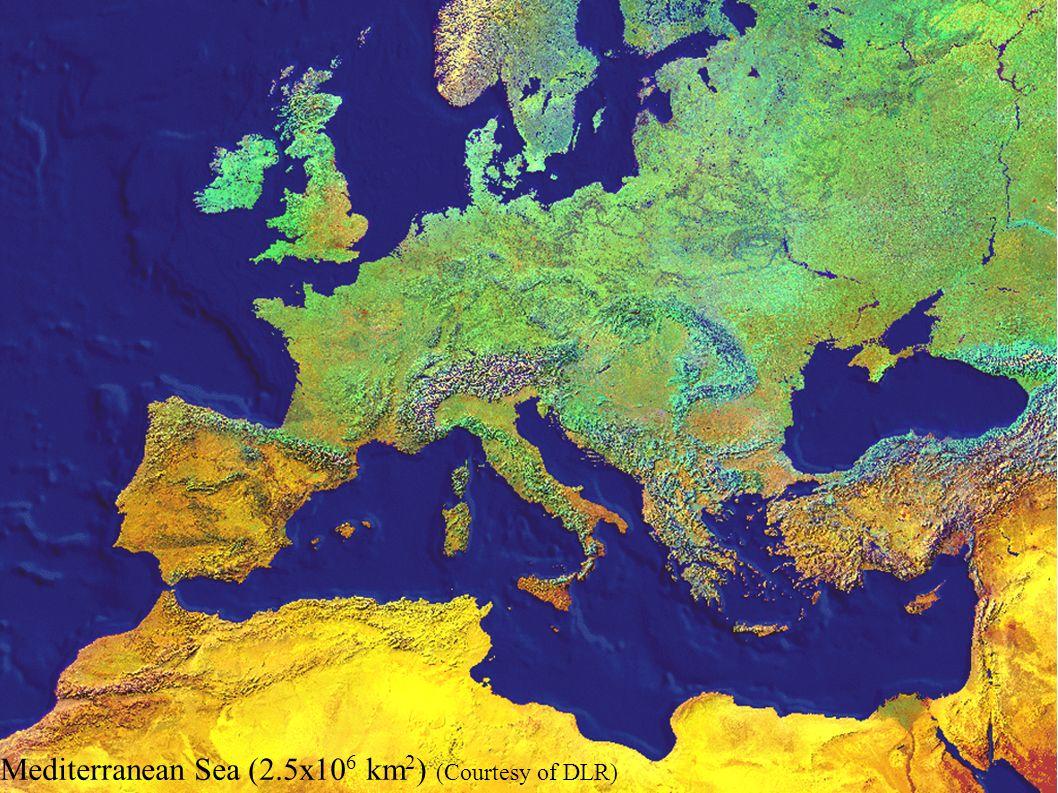 Mediterranean Sea (2.5x10 6 km 2 ) (Courtesy of DLR)