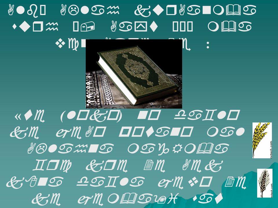 Alb€ ALlah kurAanm&a surh Ê, Aayt ÊÎÉ m&a vcn Aape 2e : « te ( loko ) no da`lo ke jeAo potano mal ALlahna magRm&a `rc kre 2e Aek k8na da`la jevo 2e ke jem&a9i sat DU&Da wge 2e je ( jena ) drek D&UDa ( k8sla ) m&a so da8a hoy 2e : Ane ALlah jena ma4e cahe 2e, bm8a, cog8a kri de 2e : Ane ALlah behd Aapnar ( Ane ) drek cijnae ;Lm ra`nar 2e.