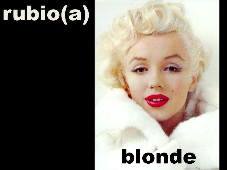 rubio(a) blonde