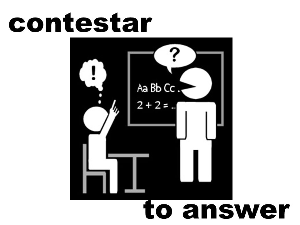 contestar to answer