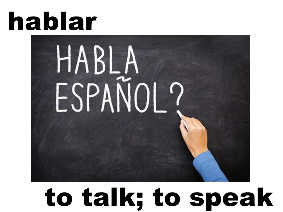 hablar to talk; to speak