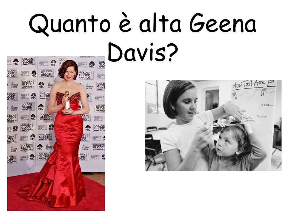 Quanto è alta Geena Davis