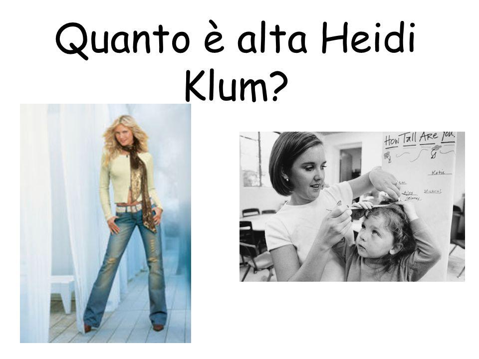 Quanto è alta Heidi Klum